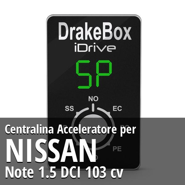 Centralina Nissan Note 1.5 DCI 103 cv Acceleratore